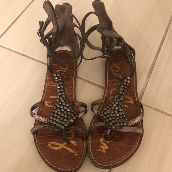 30ac94b4128 Sam Edelman Shoes - Sam Edelman Ginger Metallic Beaded Sandal
